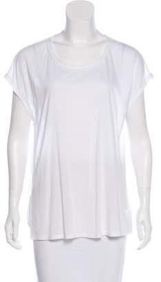 Tibi Jersey Short Sleeve Top