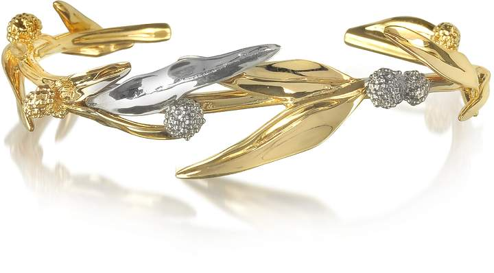 Aurelie Bidermann 18K gold-plated Brass Mimosa Bangle Bracelet