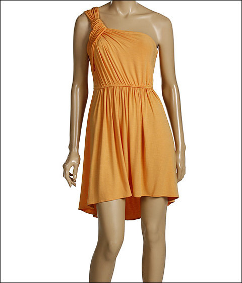 BCBGeneration - One Shoulder Knot Dress (Mimosa)