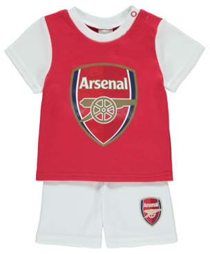 6bb521b649a George Official Arsenal FC T-Shirt and Shorts Outfit