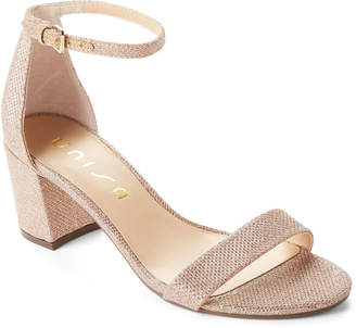 Unisa Gold Rewni Ankle Strap Sandals