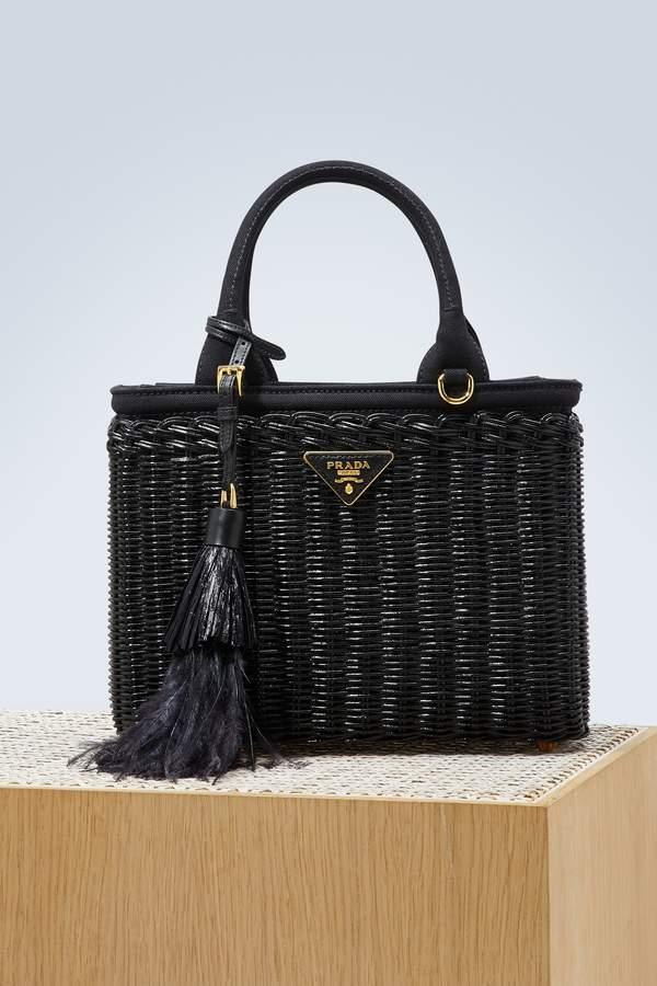 Prada Straw handbag with a strap