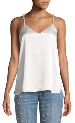CAMI NYC The Heidi Silk Charmeuse Camisole w/ Pearlescent Embellishments