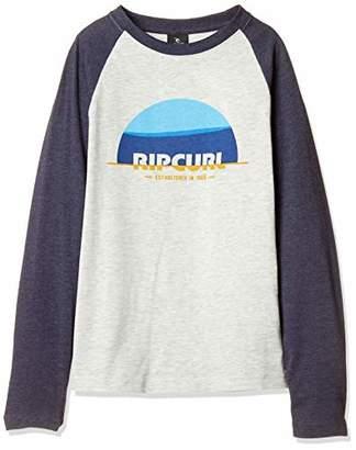 Rip Curl [リップカール] [ キッズ ] 長袖 プリント Tシャツ (ラグランスリーブ) [ U06-050 / Color Halfmoon LS TEE ] おしゃれ ラグラン 子供服 サーフ NAV_ネイビー US 130 (日本サイズ130 相当)