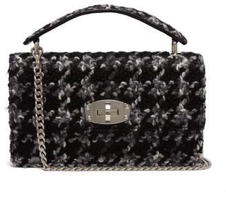 Miu Miu Boucle Tweed Shoulder Bag - Womens - Black Multi
