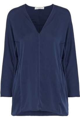 Halston Washed Silk-Blend Blouse