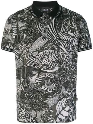 Just Cavalli printed polo shirt