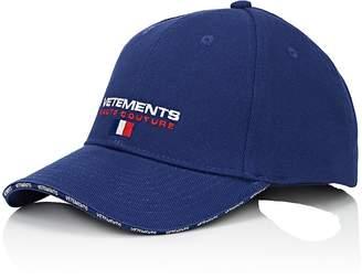 "Vetements Men's ""Haute Couture""-Embroidered Cotton Baseball Hat"