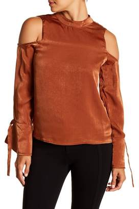 J.o.a. Cold Shoulder Long Sleeve Shirt