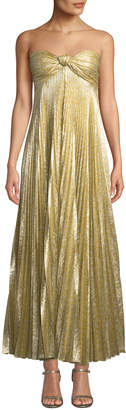 Alexis Joya Pleated Strapless Knot-Front Cocktail Dress