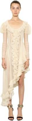 Alexander McQueen Ruffled Asymmetric Silk Dress