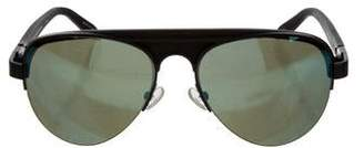 Alexander Wang For Linda Farrow Tinted Aviator Sunglasses