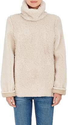 Warm Women's Shearling Funnel-Neck Sweater