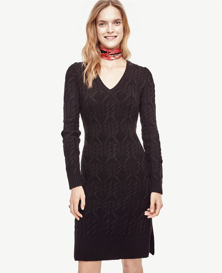 Cable Sweater Dress