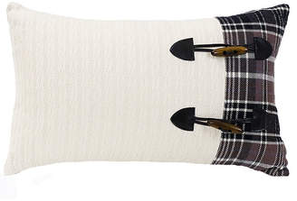 """Hiend Accents 12""""x19"""" Toss Pillow with Toggle Buttons"""