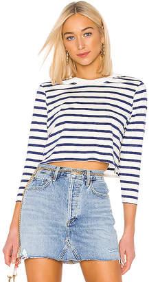 Hanes x Karla The Long Sleeve Stripe Crop Tee