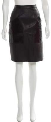 Alexander Wang Leather Knee-Length Skirt
