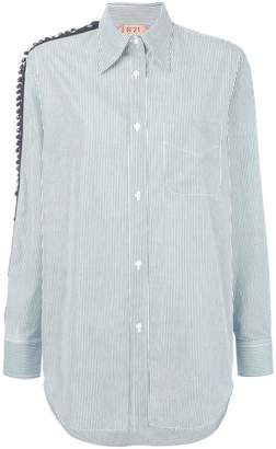 No.21 beaded panelling detail shirt