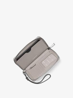 MICHAEL Michael Kors Jet Set Travel Crocodile-Embossed-Leather Smartphone Wristlet