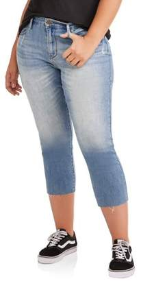 Levi's Women's Plus High Rise Slim Cropped Jeans