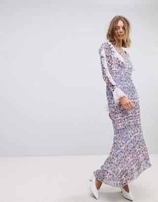 Vero Moda paisley print maxi dress in purple
