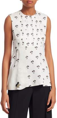 Victoria Beckham Women's Printed Sleeveless Top