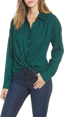 Ten Sixty Sherman Tie Hem Check Shirt