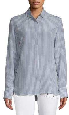 Zadig & Voltaire Striped Silk Button-Down Shirt