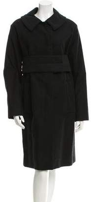 Louis Vuitton Belted Knee-Length Coat