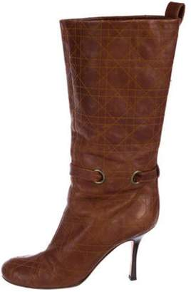 Christian Dior Cannage Leather Boots Brown Cannage Leather Boots