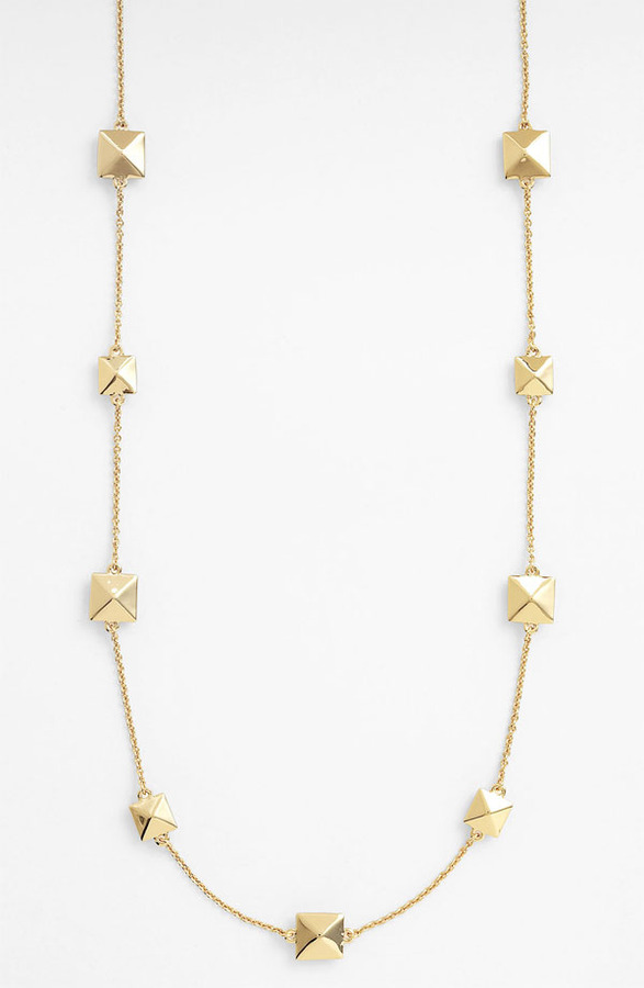 Kate Spade 'locked In' Long Pyramid Necklace