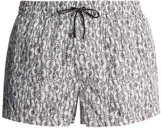 Dolce & Gabbana Floral and heart-print swim shorts
