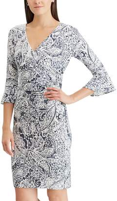 Chaps Petite Ruffle-Sleeve Sheath Dress