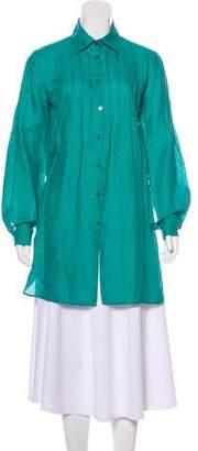 Armani Collezioni Linen Long Sleeve Tunic