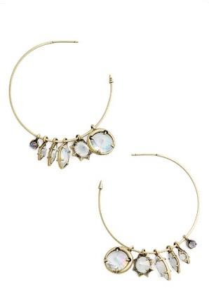 Women's Kendra Scott Alyssa Hoop Earrings $85 thestylecure.com