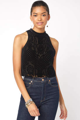 Free People Walk This Way Lace Crop Top