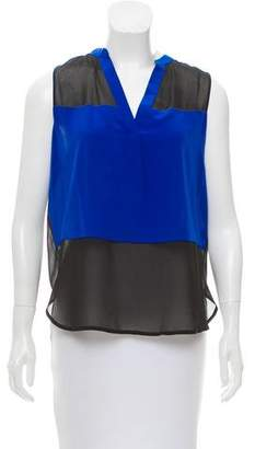 Intermix Sleeveless Silk Top