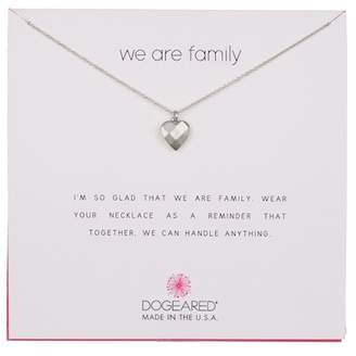 Dogeared Sterling Silver We Are Family Faceted Heart Necklace