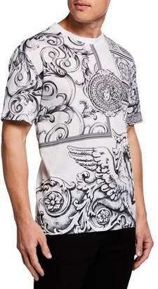 Versace Men's Classical Graphic Print T-Shirt
