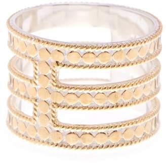 Anna Beck 18K Gold Plated Sterling Silver Gili Wire Triple Bar Ring