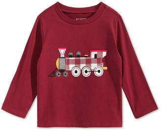 First Impressions Baby Boys Train-Print T-Shirt, Created for Macy's