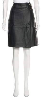 MICHAEL Michael Kors Faux Leather Knee-Length Skirt