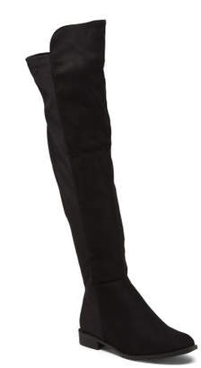 Over The Knee Stretch Back Boots