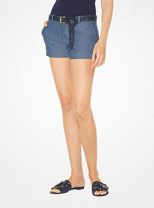 Michael Kors Stretch-Denim Shorts
