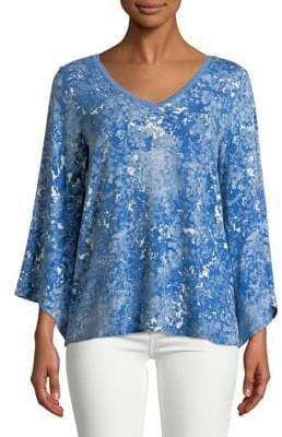 Halston H Bell-Sleeve Jersey Top