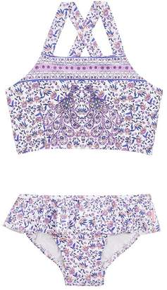 Seafolly Girls Toddler Peacock Paisley Crop Set