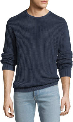 AG Adriano Goldschmied Men's Camden Sand-Washed Cotton Crewneck Sweater
