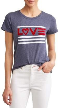 f0ae0d3a2 Ev1 From Ellen Degeneres Love Flag Short Sleeve Graphic Tee Women's