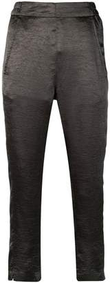 Ann Demeulemeester metallic cropped trousers