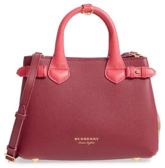 Burberry Small Banner - Derby House Check Leather Satchel